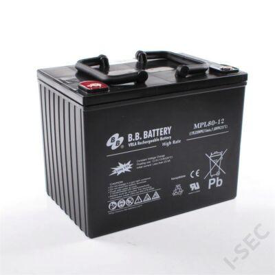 BB akkumulátor 12V, 80Ah