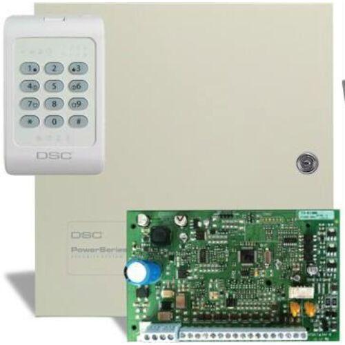 DSC PC1404 központ + 1404 RKZ kezelő