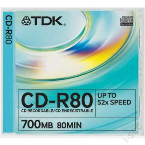 CD-R80 írható CD lemez, slim