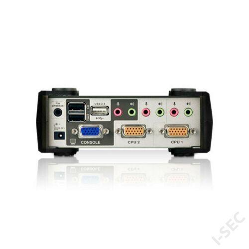 ATEN KVM switch 2PC, USB, VGA+Audió