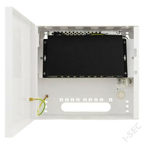 Pulsar 9 port switch (8 PoE 10/100 +1 GB), fém dobozban
