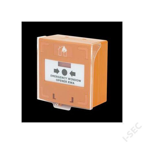 SCP-100 OR Visszaállítható kézi jelzésadó 3 kapcsolós NO/NC/COM narancs