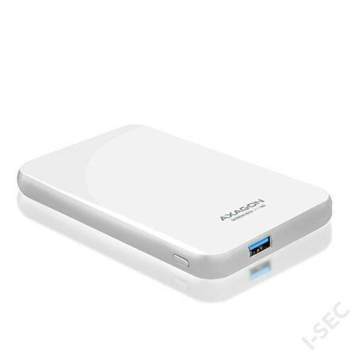 Axagon EE25-S6 USB 3.0 fehér csavar nélküli külső HDD/SSD ház