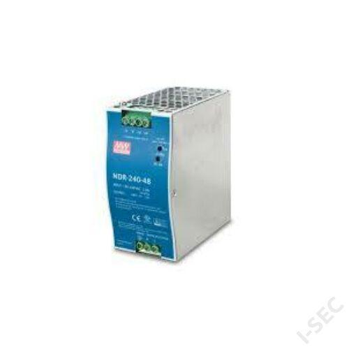 Mean Well PWR-240-48 ipari PoE switch táppal, DIN sínre szerelhető, 48VDC, 240W