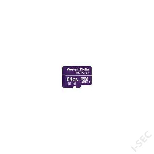 WD purple MicroSD kártya - 64GB Class10 WDD064G1P0A