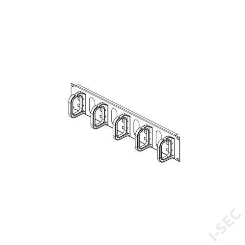 Rack gyűrűs kábelrendező, 2U; DP-VP-P3