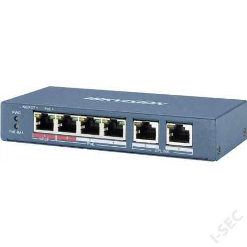 Hikvision DS-3E0106HP-E 6port switch  új széria